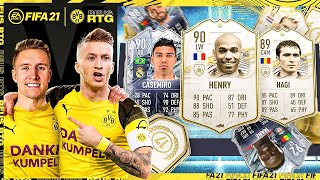 LUCK IS INSANE! 5 BACK TO BACK WALKOUTS! ICON SWAPS! | FIFA 21 REUS TO GLORY #23