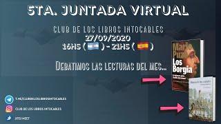 5ta. Juntada Virtual - Club De Los Libros Intocables