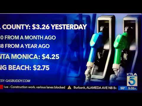 SOUTHERN CALIFORNIA GAS PRICES GOING UP IN 2018 @KTLA