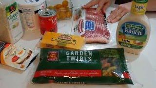 Паста салат с беконом и сыром