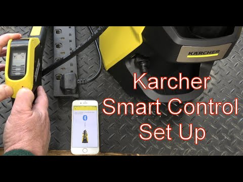 Setting up the Karcher Smart Control App for the K7 Pressure Washer
