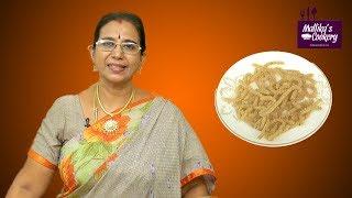 Thinai Murukku   Mallika Badrinath   Indian Savoury Snack