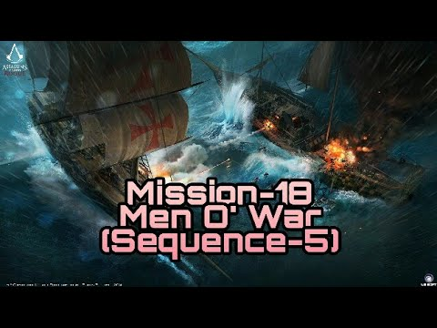 Assassin's Creed Rogue Mission-18 Men O' War (Full Syncronisation) |