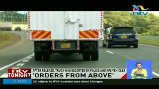 Police release truck full of charcoal on 'orders from above'