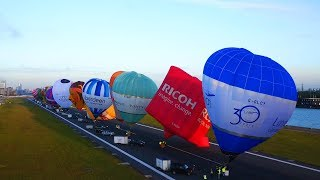 Getting 30 hot air balloons off the runway of London City Airport