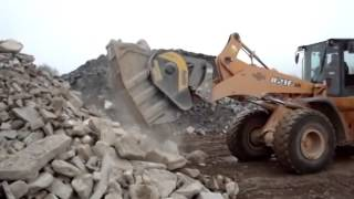 bf 90 3 crusher bucket on a loader