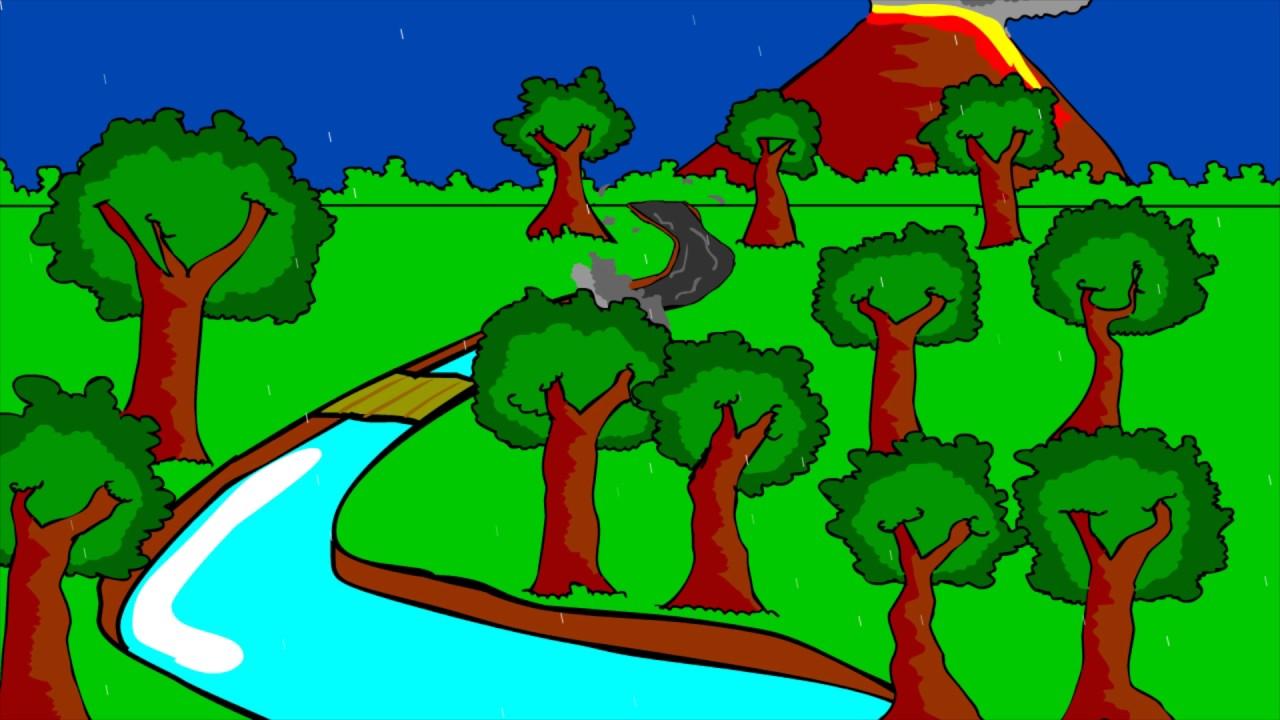 Gunung Meletus Animasi Tugas Akhir Mapel D