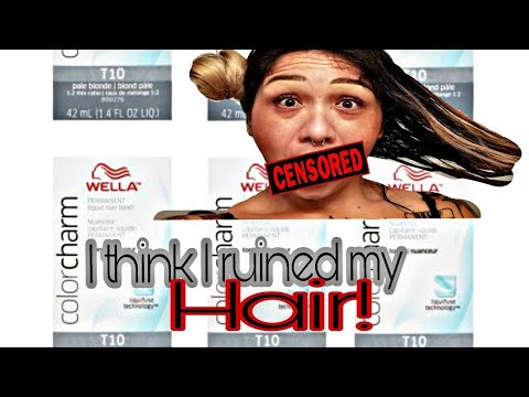 Toned Half My Hair With Wella T10/ Let's Compare