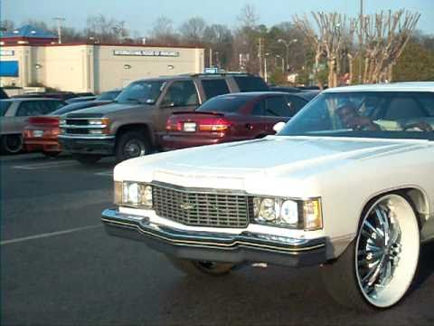 71 Donk Chevy Impala sport coupe on 28 inch Lexanis
