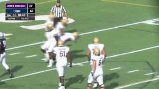 UNH Football vs James Madison University HIGHLIGHTS (10-15-16)