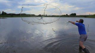 Тест драйв кастинговой сети Американка 4 м капрон Рыбалка от Игоря