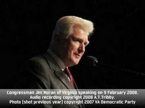 Jim Moran Speaks About Hillary Clinton 9 February 2008