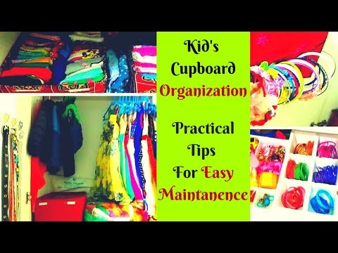 Kid's wardrobe organization - Girl and Boy - Clothes, Toys and Accessories organising ideas