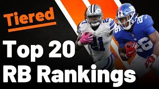 Fantasy Football RB Rankings 2019 | TIERS AND TIMESTAMPS