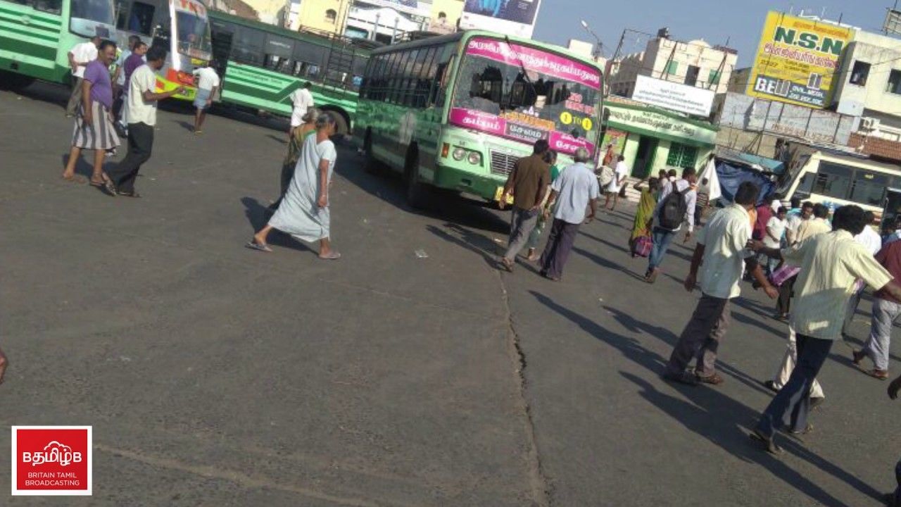 Disorder activities at Karur Bus Stand