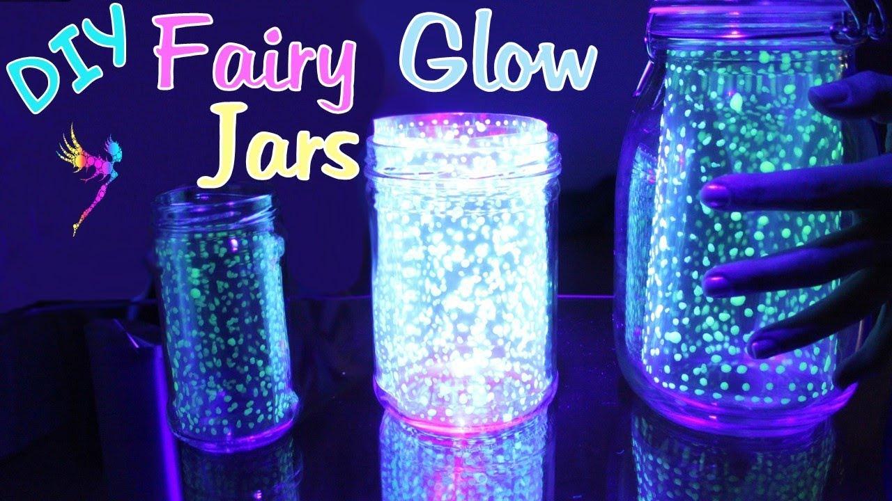 diy fairy glow jars leuchtende feen gl ser party deko youtube. Black Bedroom Furniture Sets. Home Design Ideas