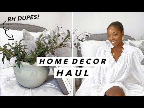 Huge Home Decor Haul Home Goods Cb2 Anthropologie More Affordable Home Decor Tanicha Rose Youtube