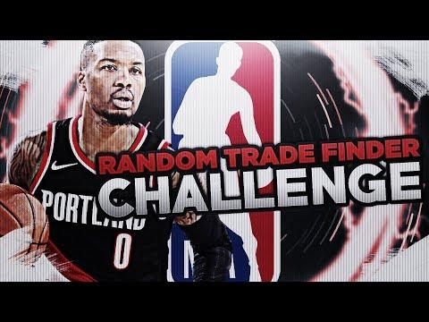 TRADING LILLARD! RANDOM TRADE FINDER CHALLENGE! NBA 2K18