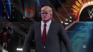 Luta Donald Trump vs Barack Obama WWE 2k19