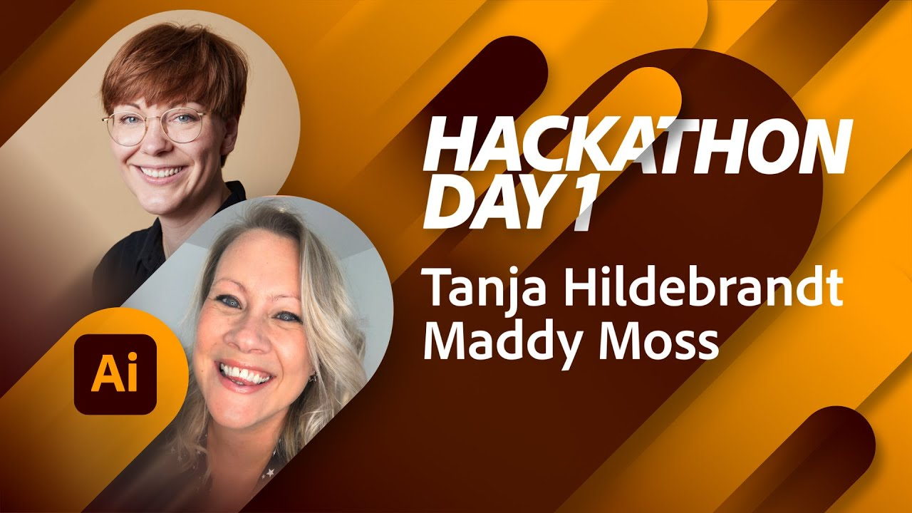Branding Hackathon with Tanja Hildebrandt and Maddy Moss - Day 1 | Adobe Live