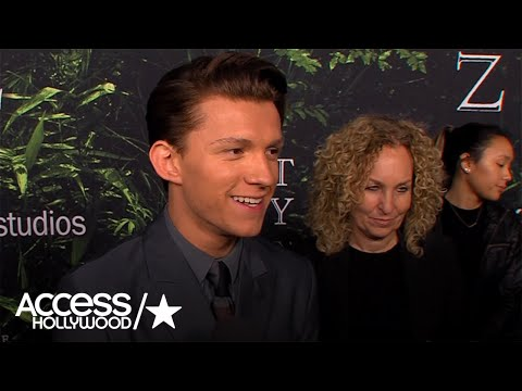 Tom Holland Talks Working With Charlie Hunnam On 'The Lost City Of Z' | Access Hollywood