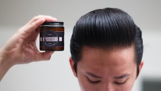 Grandad's Super Heavy Pomade Review -- Styling with a Candle
