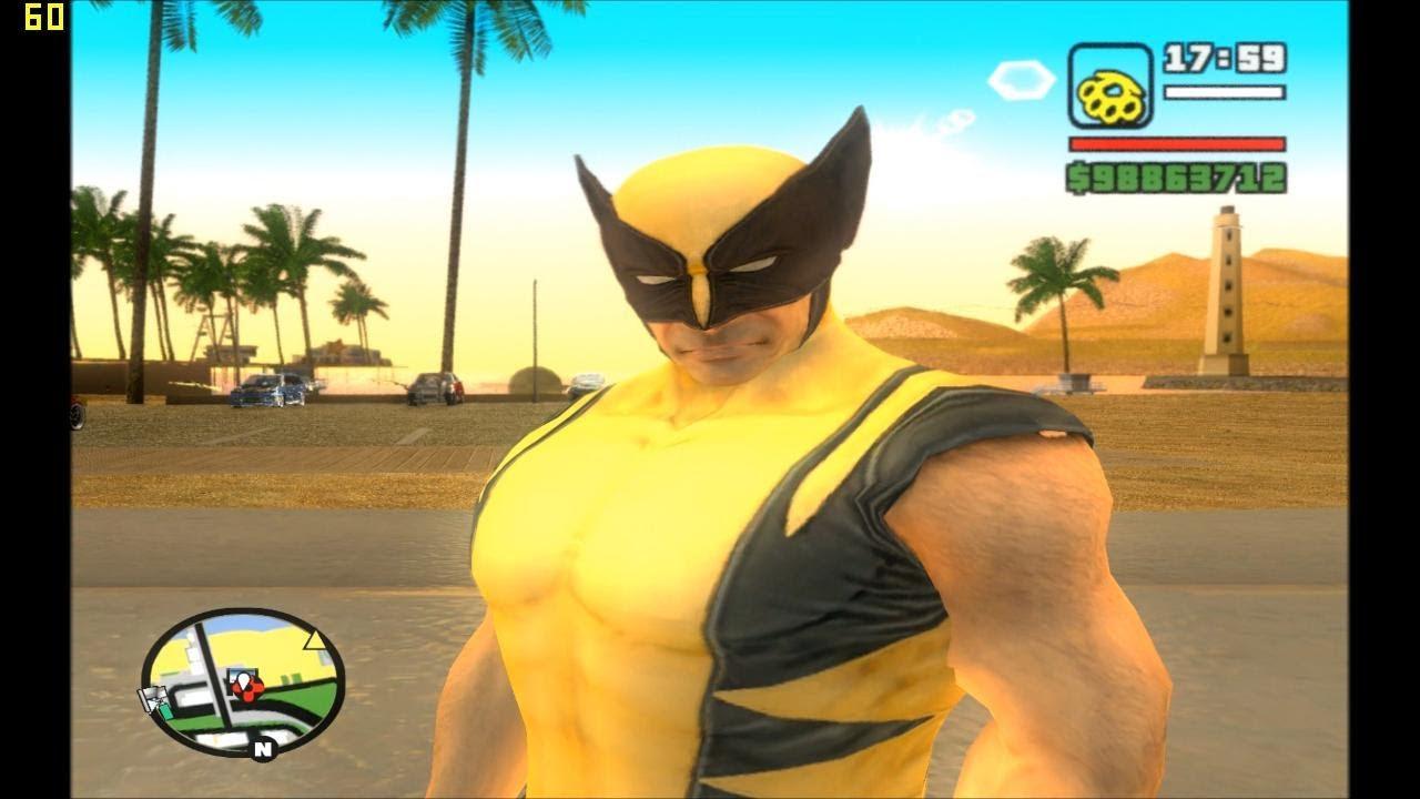 gta sa evolution download skin wolverine full hd 1080p - youtube