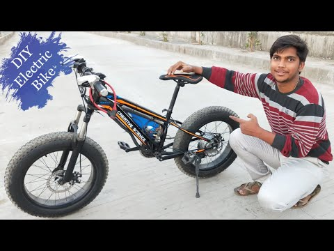 how to make fat Electric Bike at home || DIY PROJECT Creative Science
