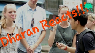 DHARAN REACTS | ASKING FUNNY CONFUSING QUESTIONS IN PUBLIC  | JUNE 2017