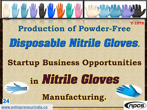 Production Of Powder Free Disposable Nitrile Gloves