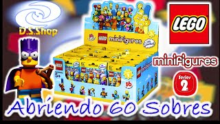 LEGO Simpsons Minifigures Caja con 60 Sobres Serie 2 Review Unboxing blind bags