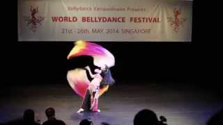 Fan Veil Poi ( Voi ): 2nd, Fusion Category, World Bellydance Festival 2014
