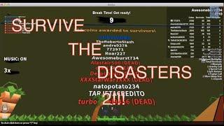 Roblox, Survivre aux catastrophes 2!!! «Seuls les amis avec le créateur peuvent jouer le jeu