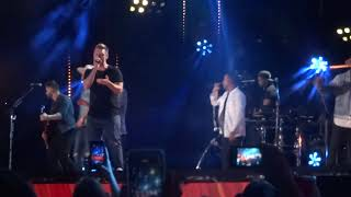 "The Backstreet Boys join Florida Georgia Line on stage to sing ""God, Your Mama and Me"" at CMA Fest"