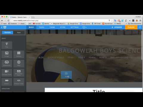 How to use Weebly Editor