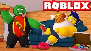 ROBLOX'S FATT PLAYER! 🍔😂 SUPER FAT SIMULATOR