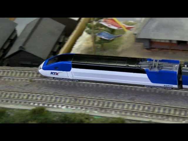 N scale railroad model KTX Sancheon (4)