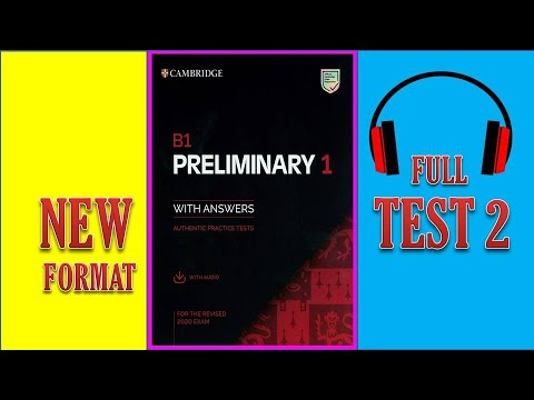 B1 PET   Offical Listening full test 2  Cambridge 2020 (with Answer key)
