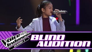 Indah - It's a Man's Man's World | Blind Auditions | The Voice Kids Indonesia Season 3 GTV 2018