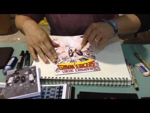 Tom Coker draws DEADPOOL at SAC CON '15 (Pt. 3)