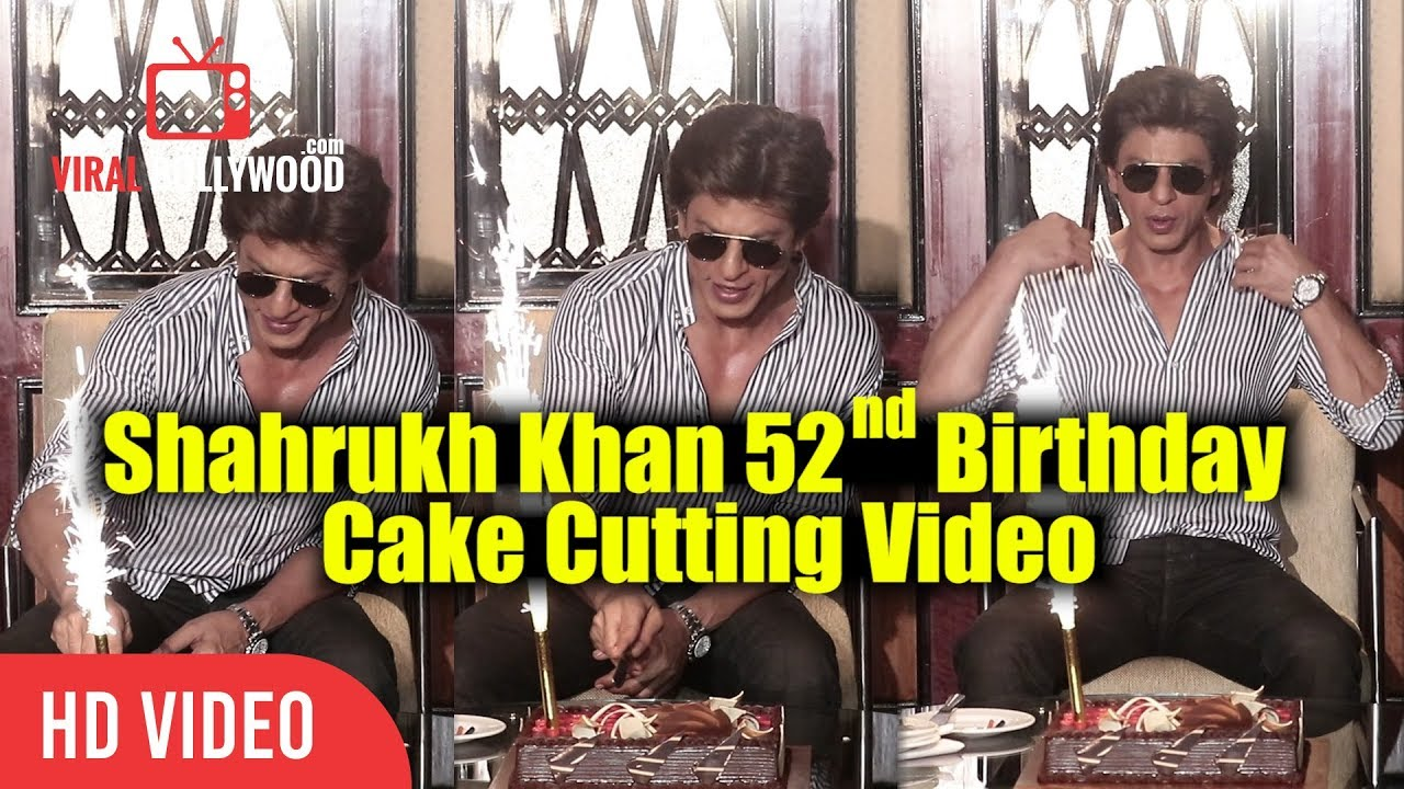 Shahrukh Khan 52nd Birthday Cake Cutting Video SRK 52nd Birthday