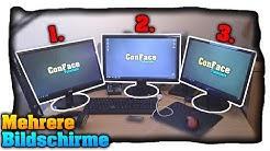 Mehrere Bildschirme an einem PC nutzen! Anschließen &. Konfigurieren! - Tutorial