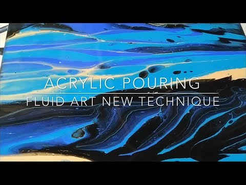 Acrylic pouring new technique paint split fluid art flow art pour painting
