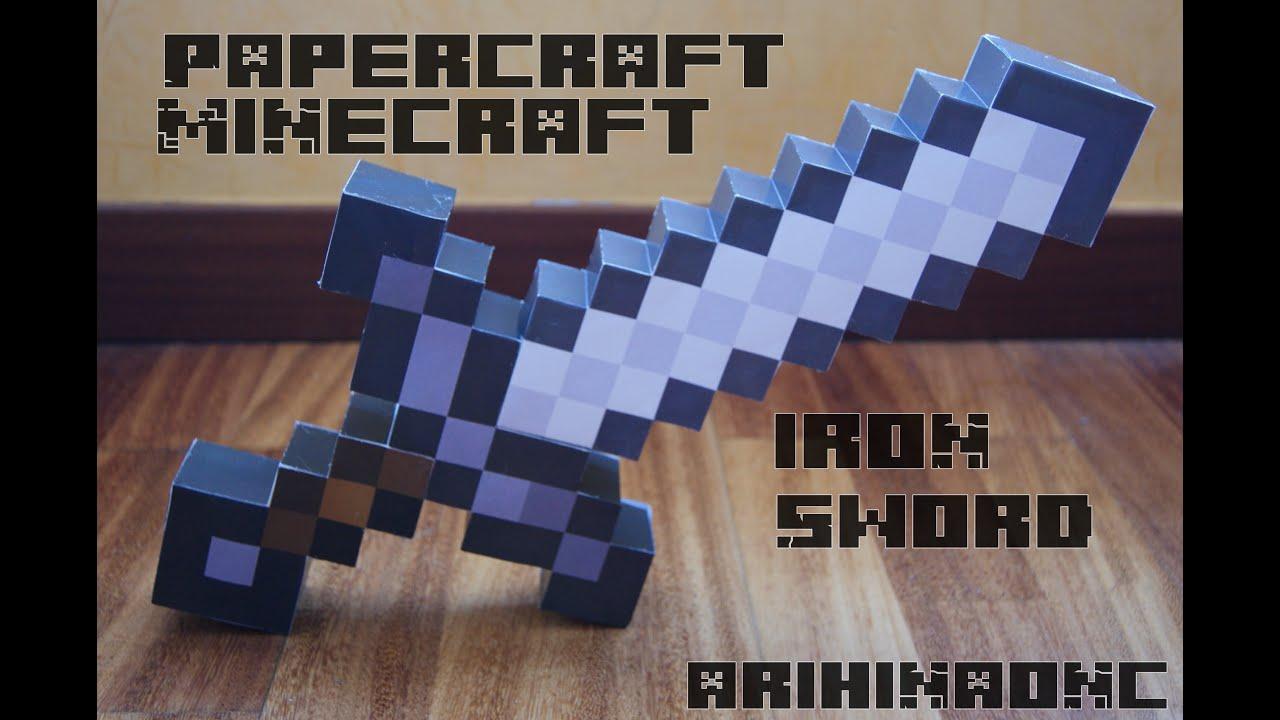 Espada de hierro Minecraft a tamao juguete  YouTube