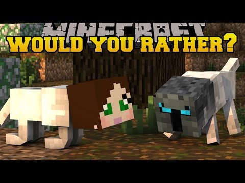 Minecraft: WOULD YOU RATHER?! (WEIRDEST QUESTIONS EVER!) Mini-Game