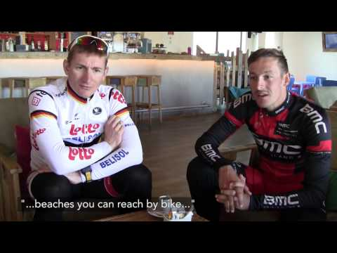 Interview with André Greipel and Marcus Burghardt in the luxury family Hotel Martinhal