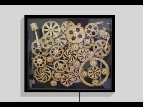 wooden gear kinetic art satisfactory youtube