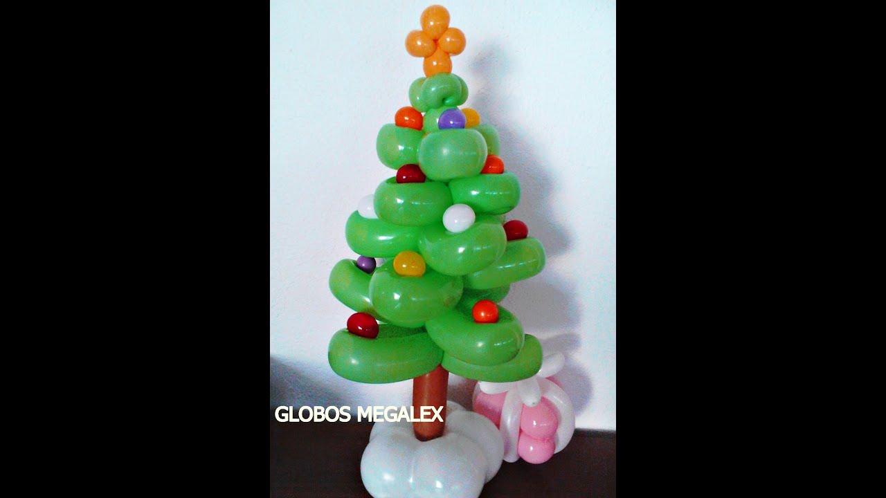GLOBOS PINO DE NAVIDAD CON MEGALEXCHRISTMAS TREE  YouTube