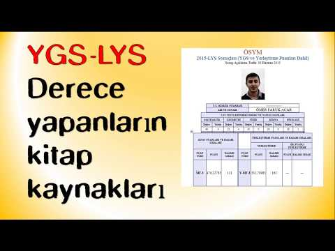 Derece yapanların çözdüğü kitaplar |YGS LYS