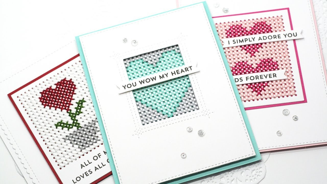 1efe5ad9b6dd5 Stitched With Love - How to Add Stitching to Cards. My Favorite Things